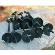 King Canopy 6 PC Anchor Kit With Ropes A6200, Black