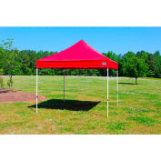 King Canopy™ FSSHST10RD Festival Instant Canopy 10'L x 10'W Red