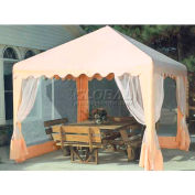 10' x 10' Almond Garden Party Canopy With Screens