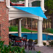 16' Triangle Blue Sun Shade Sail
