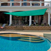 10' Quadrilateral Green Sun Shade Sail