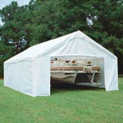 King Canopy Sidewall Kit With Flaps For 18'W x 27'D Hercules™ SWK1827WF-2, White