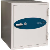 Phoenix Safe Datacare 2-Hour Key Lock Fire & Water Resistant Media Safe 2.8 cu ft, Off-White, Steel