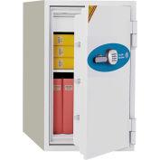 Phoenix Safe Fire Fighter 1.5-Hour Digital Fire & Water Resistant Safe 2.88 cu ft, Off-White, Steel