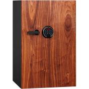 Phoenix Safe DBAUM Fingerprint Lock Luxury Fire Res. Safe w/ Walnut Door 3.0 cu ft, Black, Steel