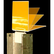 Iflex Guardrail Reflector, Flex Hinge, 2-Sided, Yellow - Pkg Qty 200
