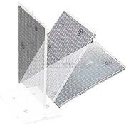 "Plastic Concrete Barrier Mount Reflector, 3"" X 4"", Flex Hinge, 1-Sided, White - Pkg Qty 50"