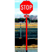 "72"" Reflective Sign Post w/ Hi-Intensity Prismatic Sheeting, Red"