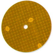 "3"" Hot Dot Center Mount Reflector, Yellow - Pkg Qty 100"