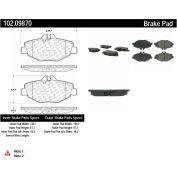 C-Tek Semi-Metallic Brake Pads with Shims, C-Tek 102.09870