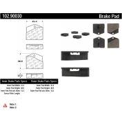C-Tek Semi-Metallic Brake Pads with Shims, C-Tek 102.90030