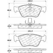 Posi Quiet Semi-Metallic Brake Pads with Hardware , Posi Quiet 104.07100