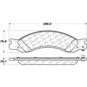 Posi Quiet Semi-Metallic Brake Pads with Hardware , Posi Quiet 104.10640