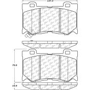Posi Quiet Semi-Metallic Brake Pads with Hardware , Posi Quiet 104.13460