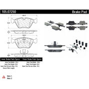 Posi Quiet Ceramic Brake Pads with Shims and Hardware , Posi Quiet 105.07250