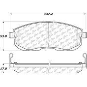 Posi Quiet Extended Wear Brake Pads with Shims and Hardware , Posi Quiet 106.08150