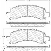 Posi Quiet Extended Wear Brake Pads with Shims and Hardware , Posi Quiet 106.09741