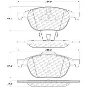 Posi Quiet Extended Wear Brake Pads with Shims and Hardware , Posi Quiet 106.10440