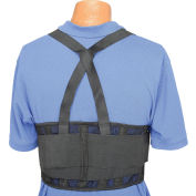 "Standard Back Support Belt, Adjustable Suspenders, Large, 38-47"" Waist Size"