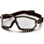 V2g® Eyewear Clear Anti-Fog Lens , Black Strap/Temples - Pkg Qty 12