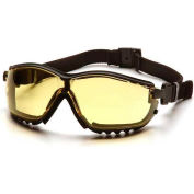 V2g® Eyewear Amber Anti-Fog Lens , Black Strap/Temples - Pkg Qty 12
