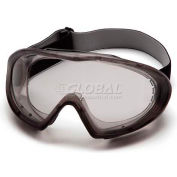 Capstone® Gray Direct/Indirect Goggle , Clear Anti-Fog Lens - Pkg Qty 12