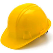 Yellow Cap Style 4 Point Snap Lock Suspension Hard Hat - Pkg Qty 16