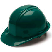 Green Cap Style 4 Point Snap Lock Suspension Hard Hat - Pkg Qty 16