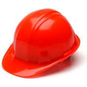 Hi Vis Orange Cap Style 4 Point Ratchet Hard Hat - Pkg Qty 16