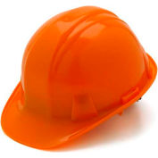 Orange Cap Style 6 Point Ratchet Suspension Hard Hat - Pkg Qty 16