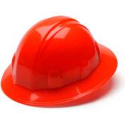 Hi Vis Orange Full Brim Style 4 Point Ratchet Hard Hat - Pkg Qty 12