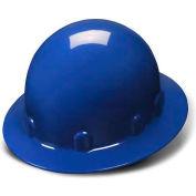 Blue Full Brim 4 Point Ratchet Sleek Shell Hard Hat - Pkg Qty 12