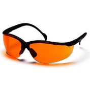 Venture Ii® Eyewear Orange Lens , Black Frame - Pkg Qty 12