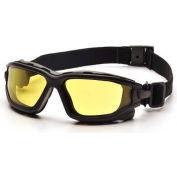 I-Force™ Eyewear Amber Anti-Fog Lens , Black Temples/Strap - Pkg Qty 12