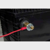 """Quick Cable 160105-2100 PVC Solderless Ring Terminal, 1/4"""" Stud"""