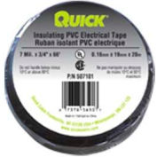 "Quick Cable 507101-100 Black PVC Electrical Tape, 3/4"" x 66', 100 Rolls"