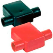 Quick Cable 5777-025B Black Flag Clamp Terminal Protectors, 4/0 Gauge, 25 Pcs