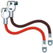 "Quick Cable 7024-025 Black Top Post Cables, 24"" Long, 25 Pcs"