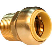 "Probite® 1-1/4"" X 1-1/4"" Mnpt Lead Free Brass Straight Male Coupling With Dual Seal - Pkg Qty 2"