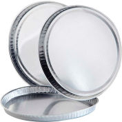 "Qorpak 235998 Oil-Free Round Aluminum Drying Pans, 102mm Dia. x 5/16""D, Case of 500"