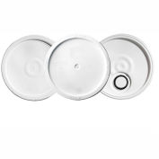 Qorpak 240172 White HDPE Plain Pail Lid, For 3.5, 5 and 6 Gallon Pails, Case of 4