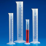 Qorpak AKM-3700-0032 PP Graduated Cylinders with Printed Graduations, 250mL, Case of 12