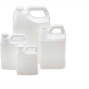 Qorpak PLA-03244 128oz (3,840ml) White HDPE F-Style Jug Only, 38-400 Neck Finish, Case of 54