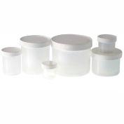Qorpak PLC-03713 16oz Natural Polypropylene Jar with 89-400 White PP Cap, Case of 24
