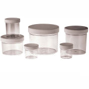 Qorpak PLC-03724 2oz Clear Polystyrene Jar with 53-400 White PP Cap, Case of 48