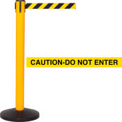 "Yellow Post Safety Barrier, 16 Ft., Yellow/Black ""CAUTION-DO NOT ENTER"""