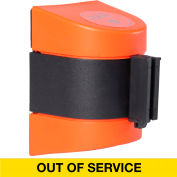WallPro 400 Orange Wall Mount Retracting Barrier, 15' Yellow/Black OUT OF SERVICE Belt