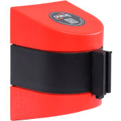 WallPro 450 Red Wall Mount Retracting Barrier, 20' Black Belt