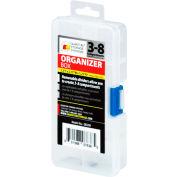"Quantum QB200 Organizer Box - 3-8 Adjustable Compartments - 5-1/2""L x 2-3/4""W x 1-1/4""H - Pkg Qty 12"