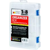 "Quantum QB600 Organizer Box - 1-8 Adjustable Compartments 9-1/4""L x 6-1/4""W x 2-3/16""H - Pkg Qty 6"